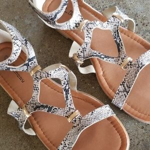 CL by Laundry snakeskin gladiator sandals